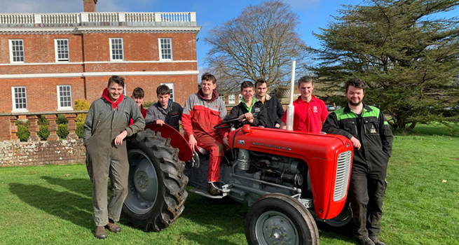 Tractor Rebuild by Bicton Students Complete!